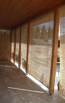 Large bamboo blinds, outdoor blinds, veranda shades